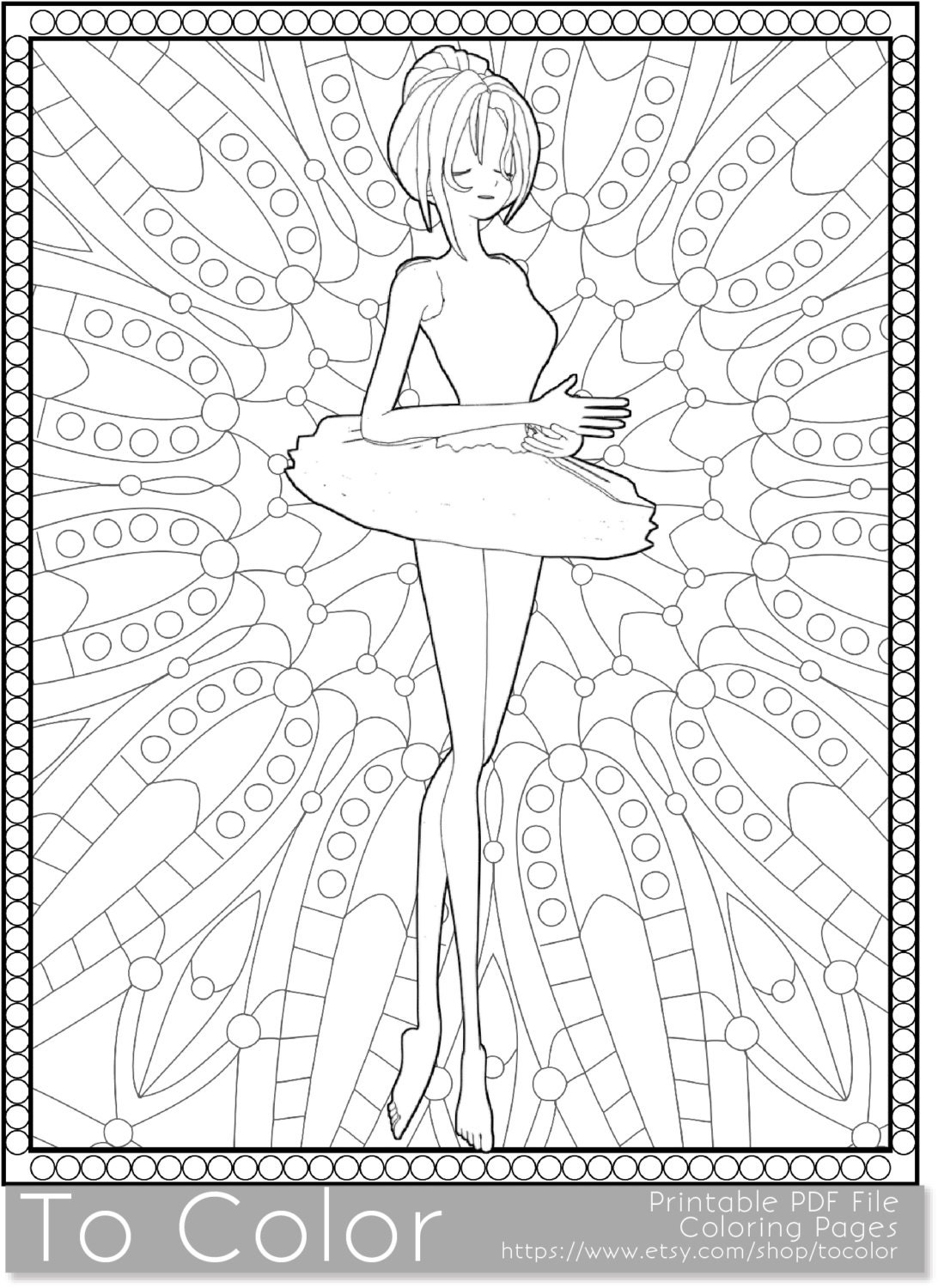 ballet coloring pages for adults - photo#23