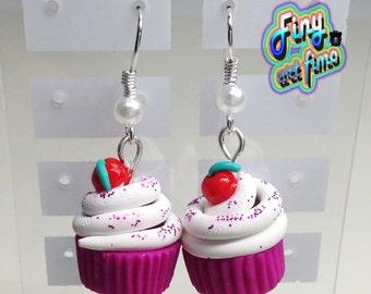 Earrings cup cake