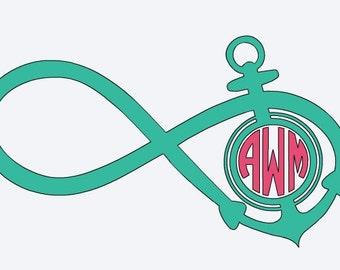 Infinity Anchor Monogram Decal