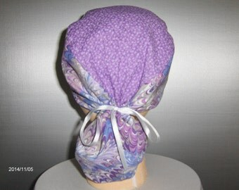 Fully Lined Ponytail Scrub Cap
