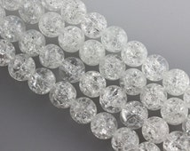 15inch - Smooth Round wholesale Frizzling crystal white Scrub Beads Genuine Natural Stone bead - 4mm 6mm 8mm 10mm 12mm -
