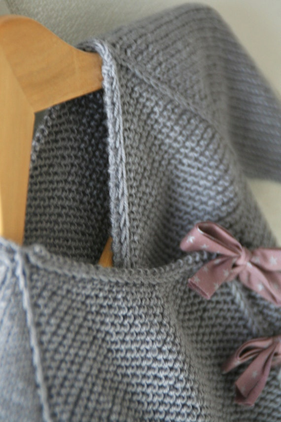 Kimono Scarf Knitting Pattern : Lil Kimonos [wrap & booties] Knitting pattern from LiliCommeTout on Etsy ...