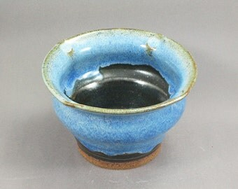 Pottery Bowl Rutile Blue - Green To Black ChunGTB36