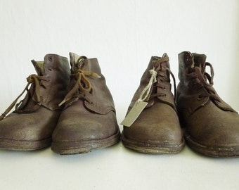 Two pairs 1930 Vintage Childs Booties...CHARMANT!