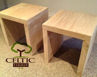 Handmade Bedside Table / Coffee Table - Solid Oak