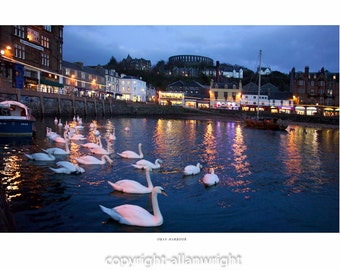 Oban Harbour by night