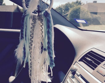 Turquoise Car Dream Catcher