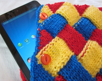 Knitted Tablet Cover/Accessory Bag