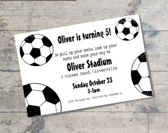 Soccer kids party invitation DIY Printable