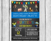 Toy Story Invitation,Toy Story Party,Toy Story,Toy Story Invite, Chalkboard Invitation, Printable Invitation, Invite,  FREE SHIPPING