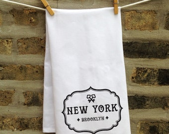 Custom Tea Towel, Cute Kitchen Towel, Personalized Tea Towel, Housewarming Gift Idea