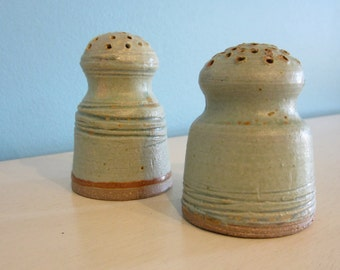 Hand Thrown Salt and Pepper Shaker Set