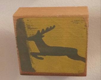 Silkscreen on salvaged wood