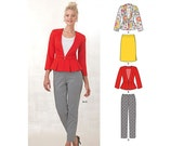 New Look Sewing Pattern 6231 Misses' Skirt, Pants & Peplum Jacketscode:NEWLOOK-6231