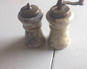 Antique itailian salt and pepper shakers