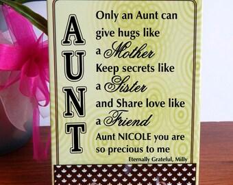 Aunt Gift / Aunt Bracelet Best Aunt Ever