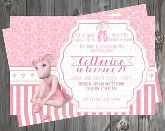 Angelina Ballerina Invitation