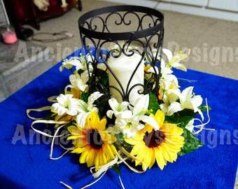 Sunflower Centerpiece for Rustic Wedding