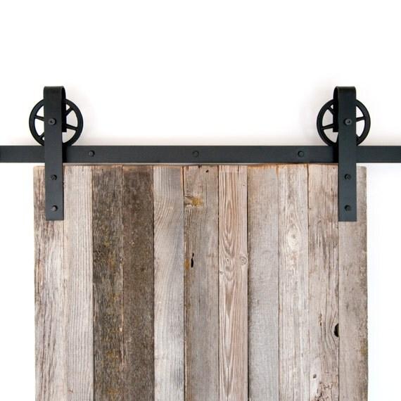 Vintage Industrial Sliding Doors : Vintage industrial spoked sliding barn door hardware from