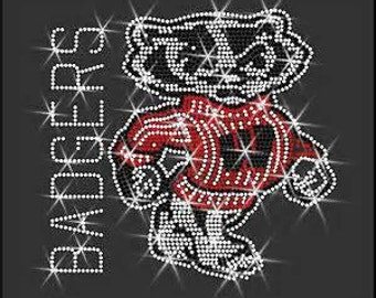 Bling Wisconsin Badgers Bucky T-Shirt Black
