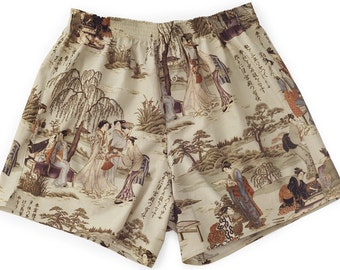 Boxershorts Toyotomi - Handmade, Cotton, Japanese/Geisha Print, MAKONIA