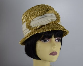 Vintage Straw Bonnet Hat