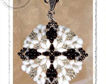 Loretta beaded pendant PDF pattern