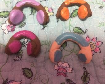 Mini clay headphones