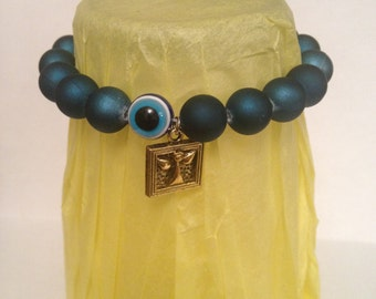 Evil Eye Guardian Angel Charm Bracelet