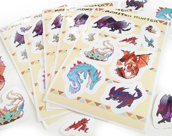 Monster Hunter Sticker Sheet