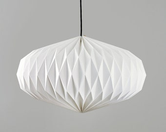 Textile lamp shade * lens * large, hand-folded origami Lampshade