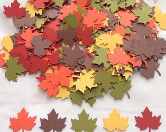 "250. 1""  Fall Confetti Decor // Fall Wedding Decorations // Party Decor // Table Decor"