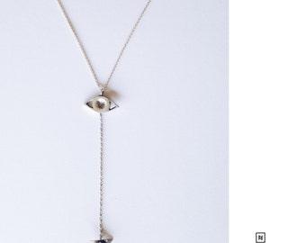 Eye to Eye Opal Pendulum necklace