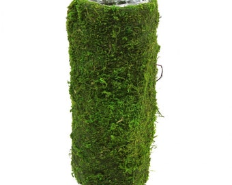 "10"" Round Moss Pots, Moss Vase, Woodland vase, Moss Centerpiece, Garden Quinceanera, Tea party, Set of 6"