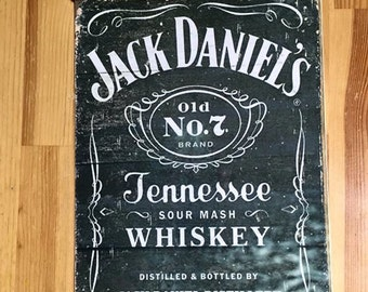 Jack Daniels JD metal sign aluminium wall hanging bar sign gift idea vintage retro