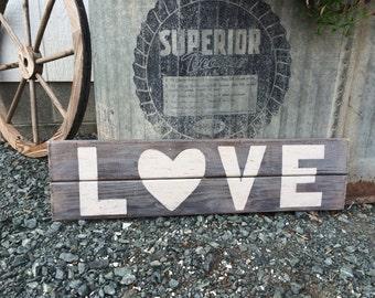 "Rustic ""LOVE"" Sign"