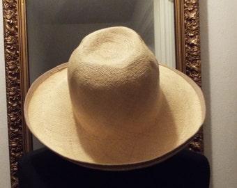 Vintage Western 80's Straw Hat