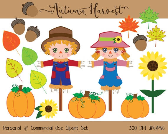 FALL AUTUMN CLIPART Commercial Use Clipart Cute by ClipArtBrat
