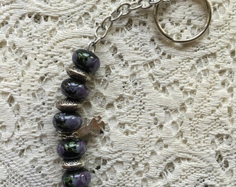 Dark Beads With Silver Girl