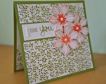 Stampin Up Thank you card with a gift tag