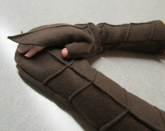 Custom Leaf Pattern Fingerless Gloves and Arm Warmers