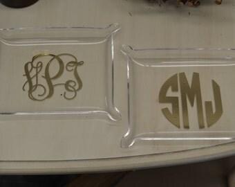 Monogrammed Acrylic Tray