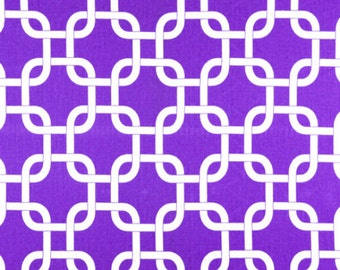 Premier Prints Gotcha in Candy Purple White Twill Home Decor fabric, 1 yard