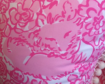 Pillow made from Lilly Pulitzer fabric 18x18""