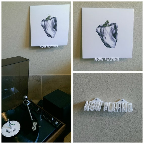 Now Playing Vinyl Record Wall Mount Display Shelf 3D Printed - Vinyl Record Wall Mount Cymun Designs