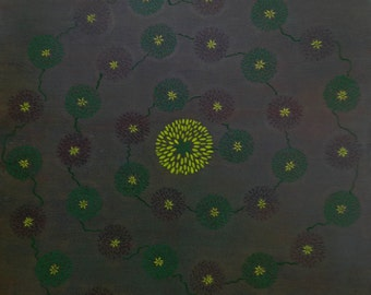 "Original Artwork on Canvas - ""Daisy Chain"""