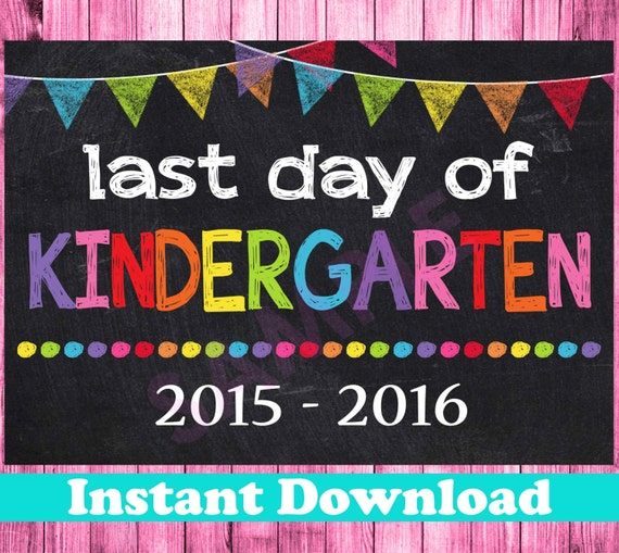 Punchy image pertaining to last day of kindergarten printable