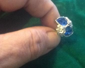 Large blue costume Jewlery ring