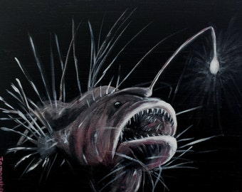 "Print - Gallery Wrapped 8""x10"" Angler Fish"