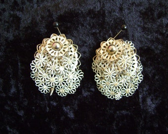 Layered Metal Earrings (clip-on)